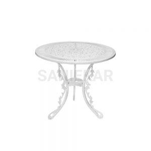 میز آلومینیومی جهت مبلمان باغی و مبلمان فضای باز صنیع کار - مدل دایره قطر 75 سانت