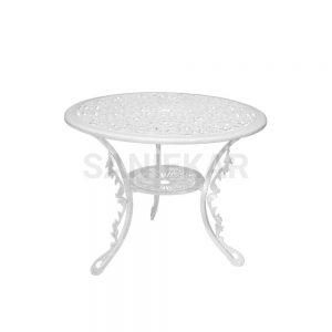 میز آلومینیومی جهت مبلمان باغی و مبلمان فضای باز صنیع کار - مدل دایره قطر 90 سانت