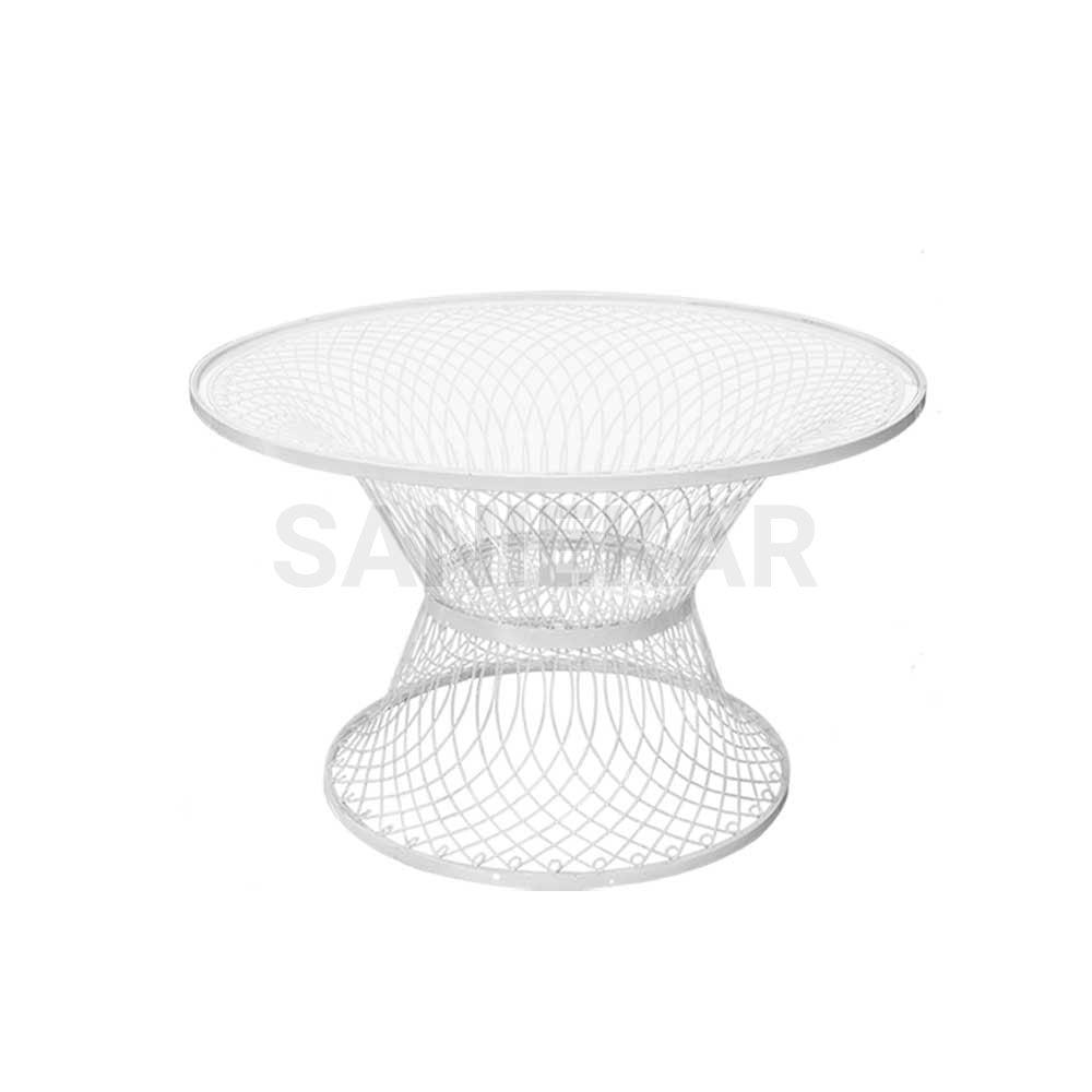میز فلزی جهت مبلمان باغی و مبلمان فضای باز صنیع کار - مدل بامبو