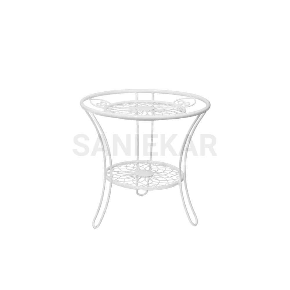 میز عسلی فلزی جهت مبلمان باغی و مبلمان فضای باز صنیع کار - مدل عسلی
