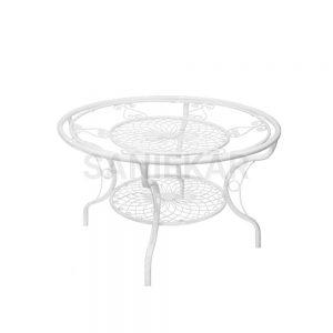 میز فلزی جهت مبلمان باغی و مبلمان فضای باز صنیع کار - مدل کالسکه و خورشیدی