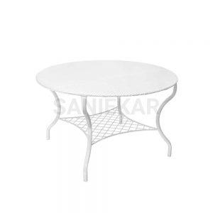 میز فلزی جهت مبلمان باغی و مبلمان فضای باز صنیع کار - مدل صفحه توری و یا پانچ