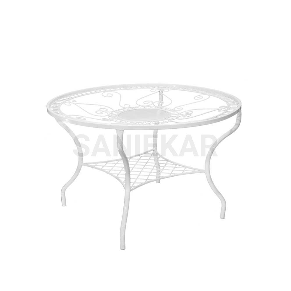 میز فلزی جهت مبلمان باغی و مبلمان فضای باز صنیع کار - مدل شعاعی