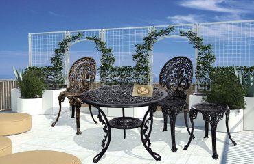 صندلی آلومینیومی باغی تراس مدل طاووسی