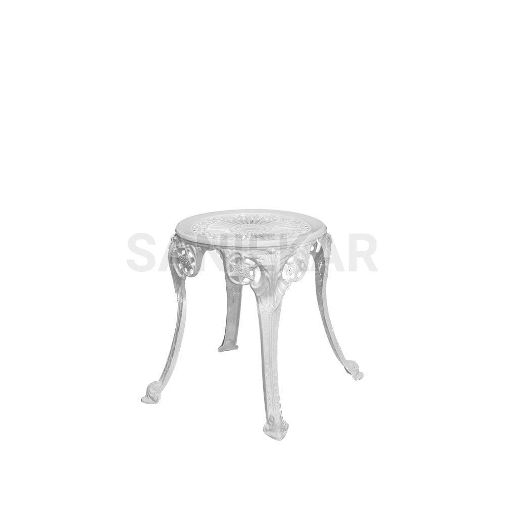 میز عسلی آلومینیومی - مبلمان فضای باز - مبلمان باغی و ویلایی