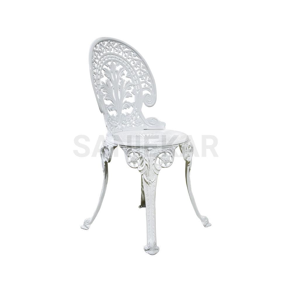 صندلی آلومینیومی فضای باز صنیع کار - صندلی تراس و مبلمان باغی - مدل طاووسی