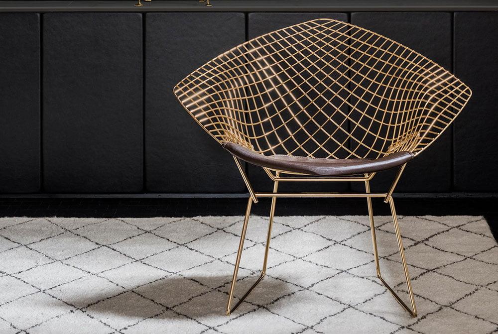 صندلی دایموند از مدل برتویا تولید شده در صنیع کار bertoia diamond
