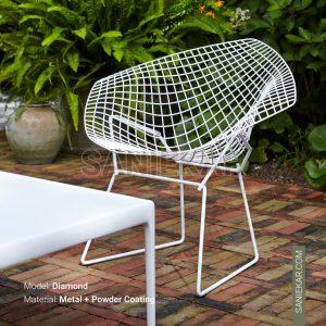 صندلی تراس و رستوران برتویا دایموند bertoia diamond