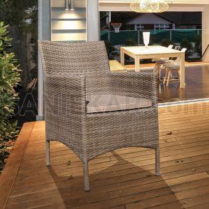 صندلی آلومینیومی فضای باز صنیع کار - صندلی تراس و مبلمان باغی - مدل سزار