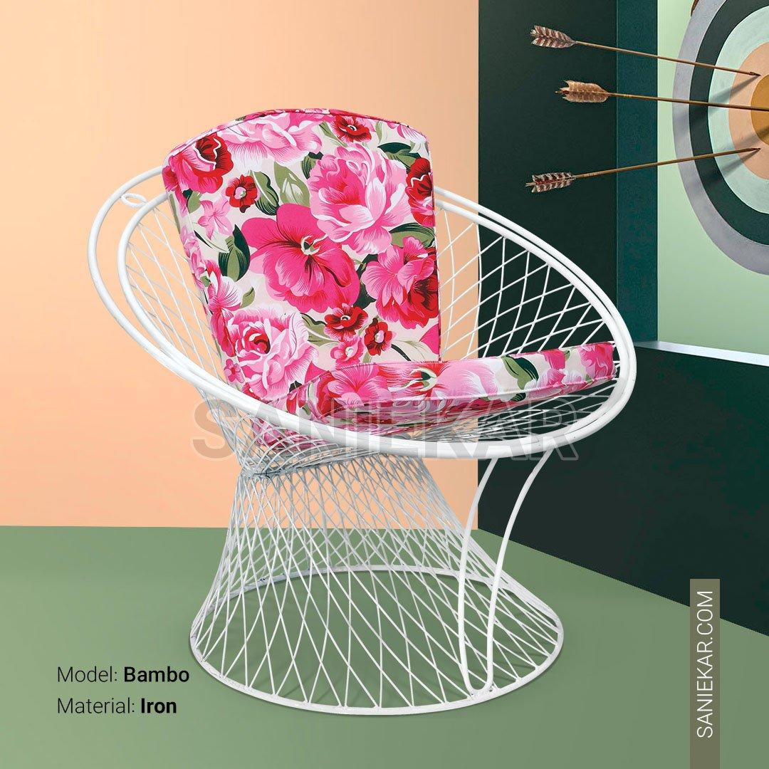 مبلمان باغی و مبلمان فضای باز صنیع کار - صندلی ویلایی مدل بامبو