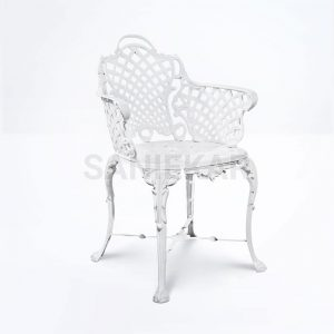 مبلمان باغی و مبلمان ویلایی صنیع کار - صندلی آلومینیومی برای فضای باز مدل حصیری