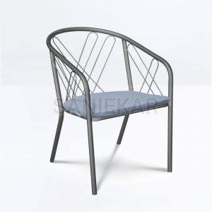 صندلی فلزی تراس - صندلی رستوران - مبلمان ویلایی صنیع کار