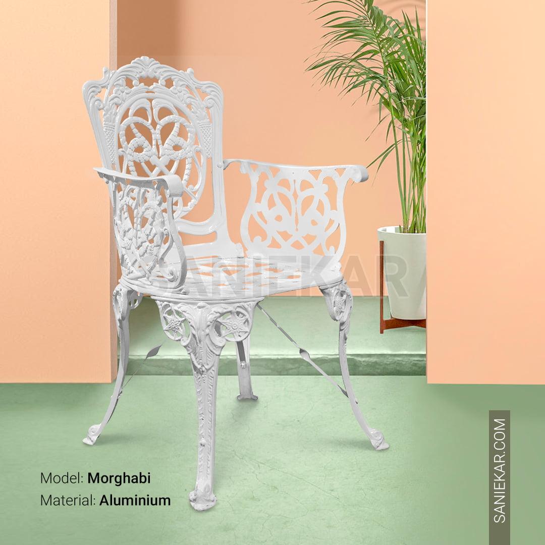 مبلمان ویلایی باغی آلومینیومی طرح مرغابی سفید مبلمان باغی